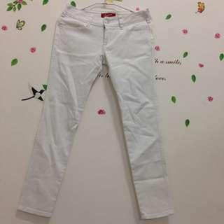 出清✨中低腰顯瘦白牛仔長褲