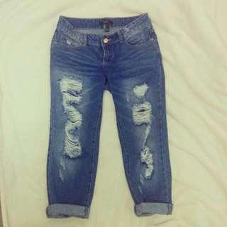 F21 Boyfriend Jeans