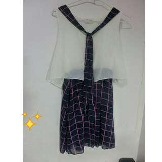 (原價390)🎀格子雪紡裙
