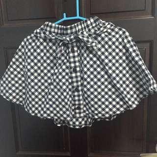 百搭格子襯衫造型褲裙