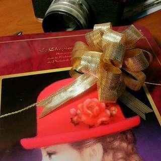 質感金絲拉花段帶  情人節、生日禮物包裝就靠它