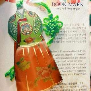 韓國傳統服飾金屬書籤(含運)