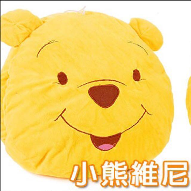 (全新)小熊維尼暖手大抱枕(寬35cm x 高30cm)