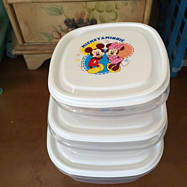 (全新)米奇米妮保鮮盒