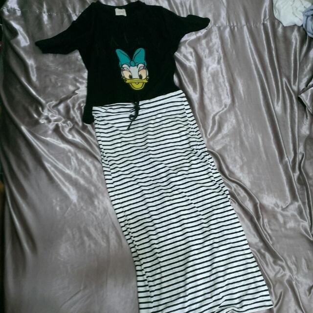 條紋長裙 99