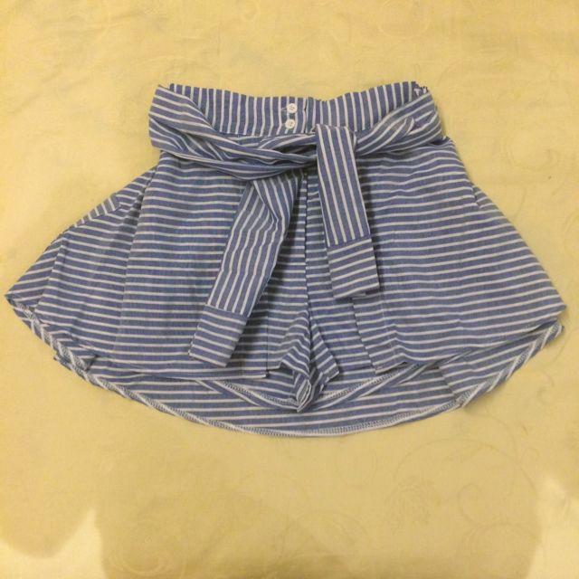 露比午茶ruby's 襯衫綁帶假兩件褲裙