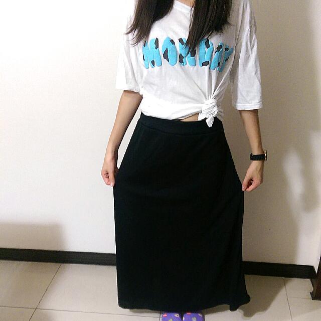 黑色長裙 全新~~