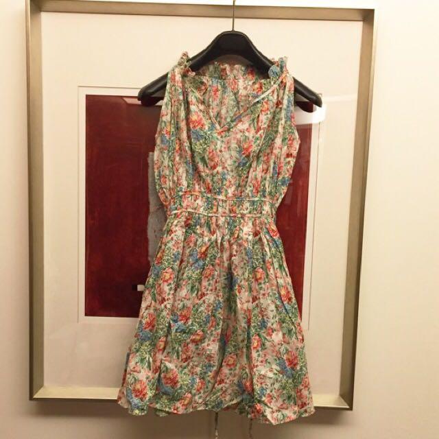 正韓 碎花洋裝