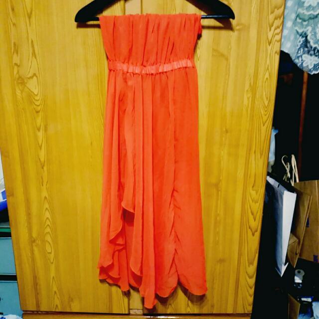 [降價]雪紡紗 伴娘服 平口洋裝