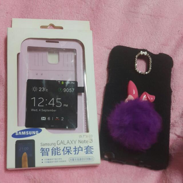 (保留)2手🌟三星 Note3 手機殼 兩樣一起賣