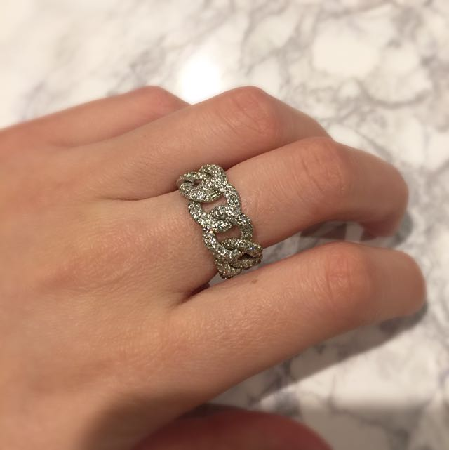 CZ Chain Link Ring
