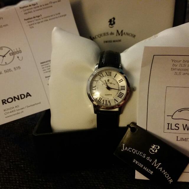 Jacques du Manoir 淑女皮革錶