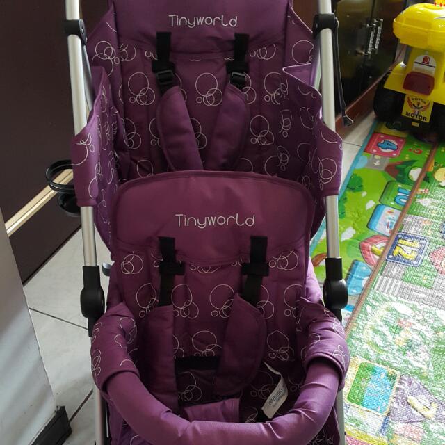 Tinyworld雙人推車巔峰版紫色