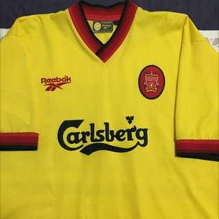 Liverpool Jersey (yellow-second Away) Original Made In Uk.