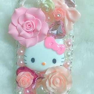 I Phone4/4s 手機殼 手工 Hello Kitty