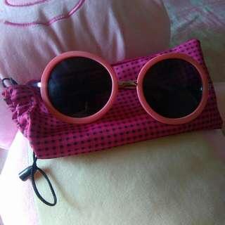 歐美原宿必備粉紅墨鏡