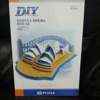 DIY 雪梨歌劇院 立體 拼圖 3D