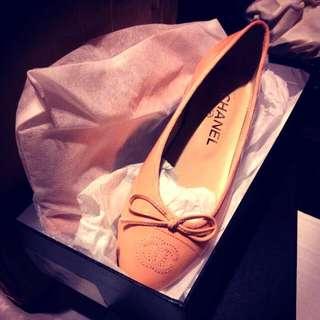 真品 Chanel平底鞋 粉色