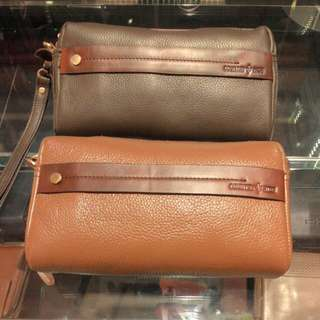 clutch bag + leather (Country Hide)