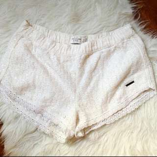 Abercrombie & Fitch Sequins Lace Shorts