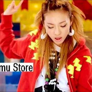 2NE1 Dara 同款紅色閃電⚡️外套