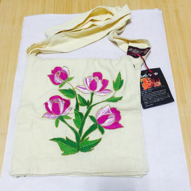 🆕 印度刺繡側背包