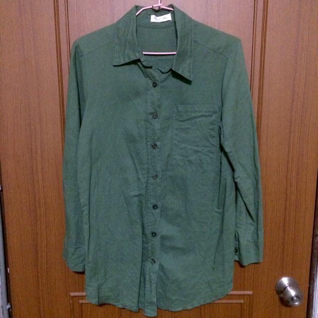 🎏綠色襯衫