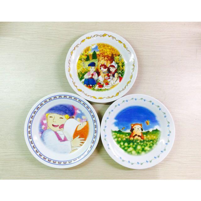 [全新]日本卡通紀念碗盤組