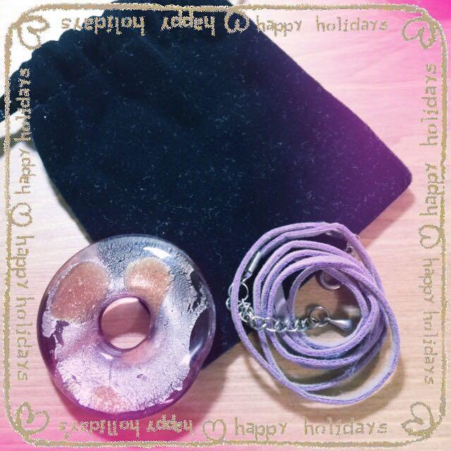 [含運]琉璃藝品。紫琉璃墜飾