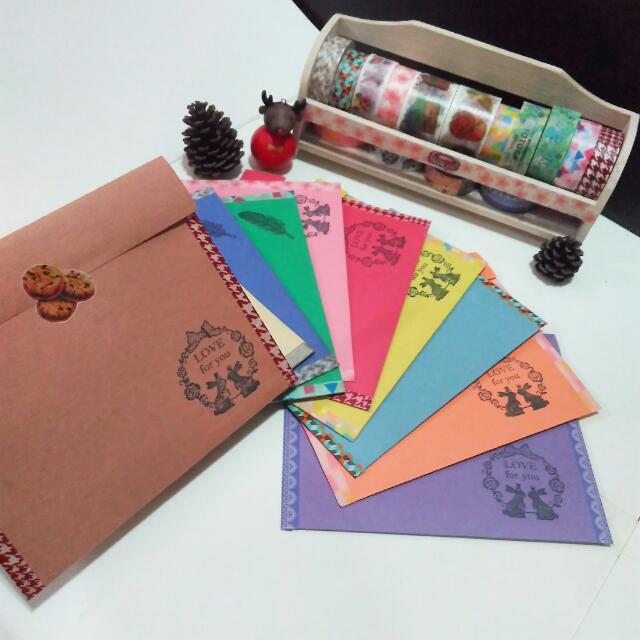厭倦始終如一嗎?『手工訂製』質感卡片袋,信封,包裝紙袋,禮物包裝,等等...