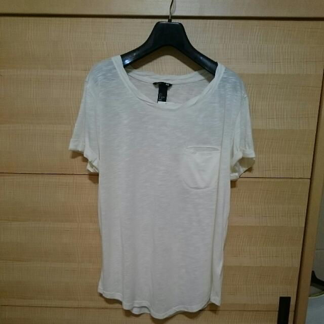 [全新] H&M白色T恤