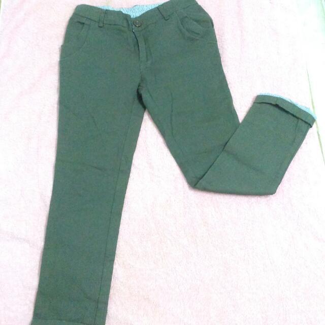 【顯瘦】卡其色長褲 S