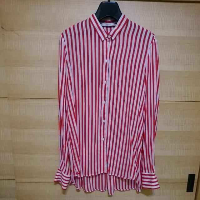 [全新] ZARA紅白條紋襯衫