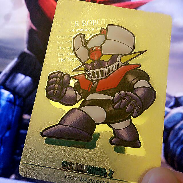 BANDAI EX1  MAZINGER Z super Robot Wars Card, Men's Fashion