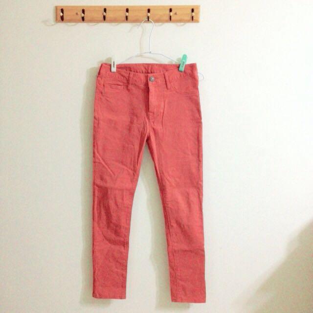 含運❗️Lowrys Farm 鉛筆色褲(西瓜紅) S size