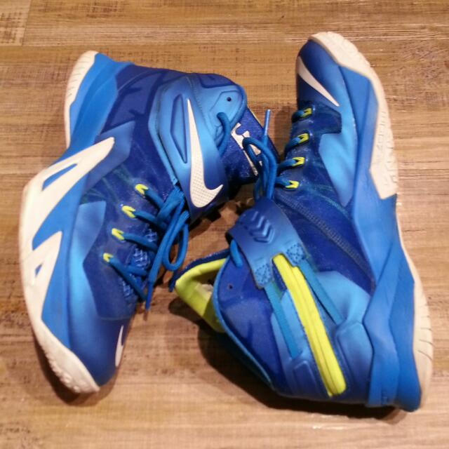 Nike Zoom Soldier VII EP	Game Royal Photo Blue 詹姆士 戰士VII 雪碧 士兵鞋 US 8.5