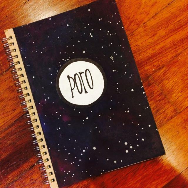 School Book Covers Printable Tumblr ~ Poro galaxy print tumblr design notebook diary