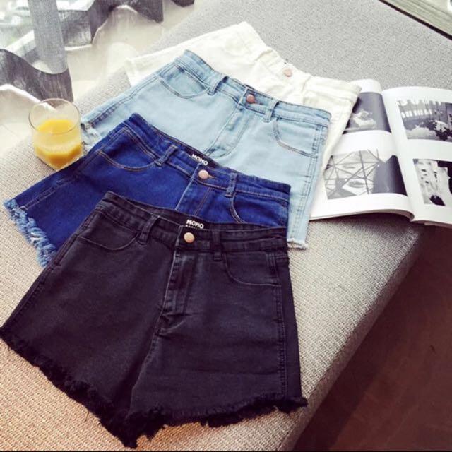 淺藍牛仔短褲s號