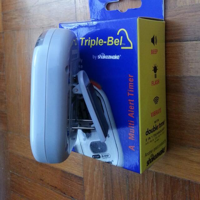 Timer Triple-Bel Multi Alert Timer Pocket Sized. Beep, Flash, Vibrate. Hour : Min Or Min : Sec. Stopwatch