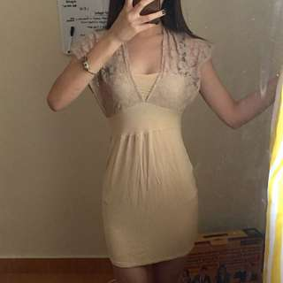 LACEY NUDE DRESS