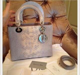 Dior Lady Dior Python Medium Bag