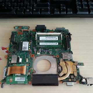 Fujitsu LifeBook S6520 Motherboard Intel Core 2 Duo 2.4ghz P8600 w/ Intel HD 4500 graphics.