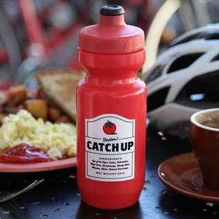 公路車 單速車 單車 腳踏車 水壺 番茄醬紅色/芥末醬黃色