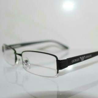 """GIORGIO ARMANI SPECS  #BLACK HALF FRAME  **BRAND NEW**  ~Cash On & Meet Up @ 7 Eleven Eunos MRT Or Tampines MRT~  <Other Location MRT Will Be Charge Extra $3 North & West Site>  ~""""Hurry UP While STOCK LAST!!""""~ For $35"""