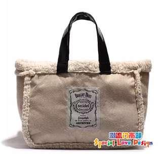雙面絨毛雜誌包 手提包