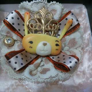 皇后兔★別針髮飾