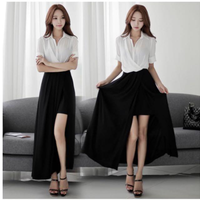 黑白配色氣質連身裙(保留中)