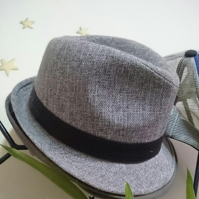 ◇私物二手出清◇淺灰質感英國紳士帽