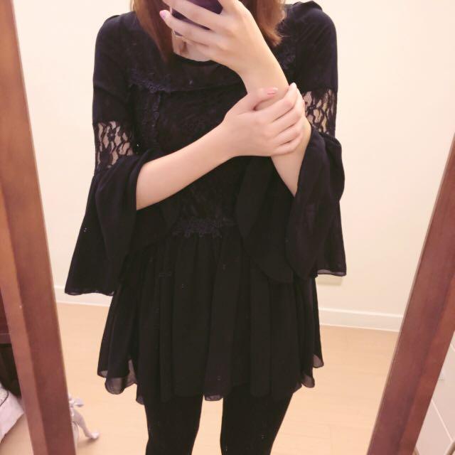 蕾絲黑洋裝