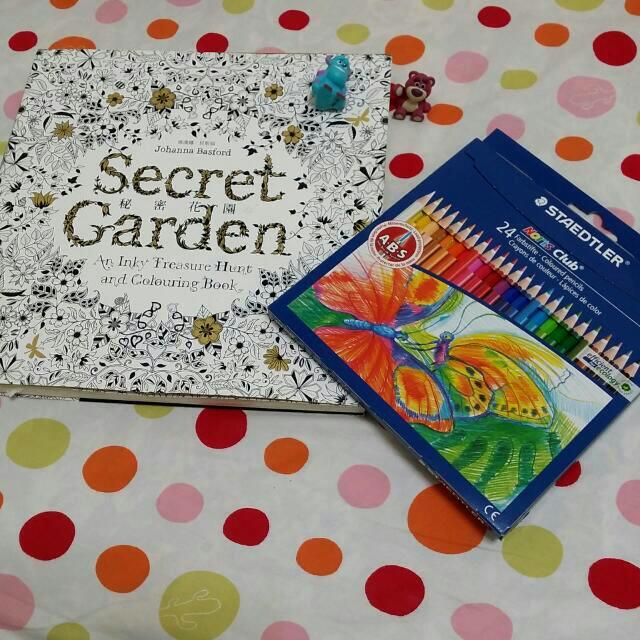 秘密花園指定款 德國施德樓 快樂學園#144油性色鉛筆 24色  STAEDTLER
